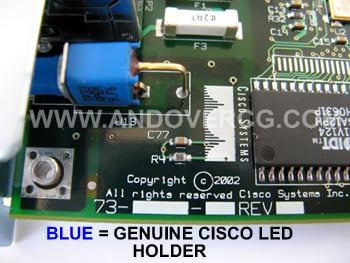 Genuine Cisco WIC-1DSU-T-V2 LED Holder Blue