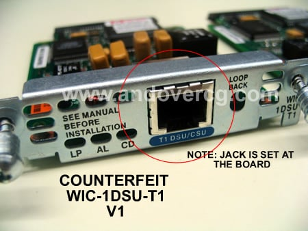 Andover Consulting Group | Counterfeit / Fake Cisco WIC-1DSU-T1