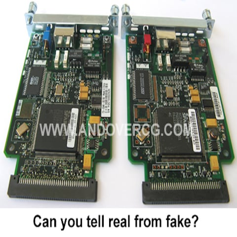 Cisco WIC-1DSU-T1 V2 Genuine vs Fake or counterfeit