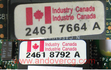 Counterfeit WIC-1ADSL Canadian Flag not touching