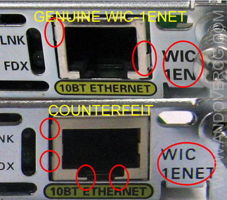 counterfeit real wic-1enet comparison